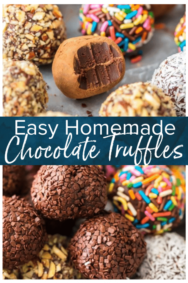 homemade truffles pinterest photo