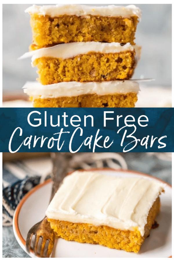 gluten free carrot cake bars pinterest collage