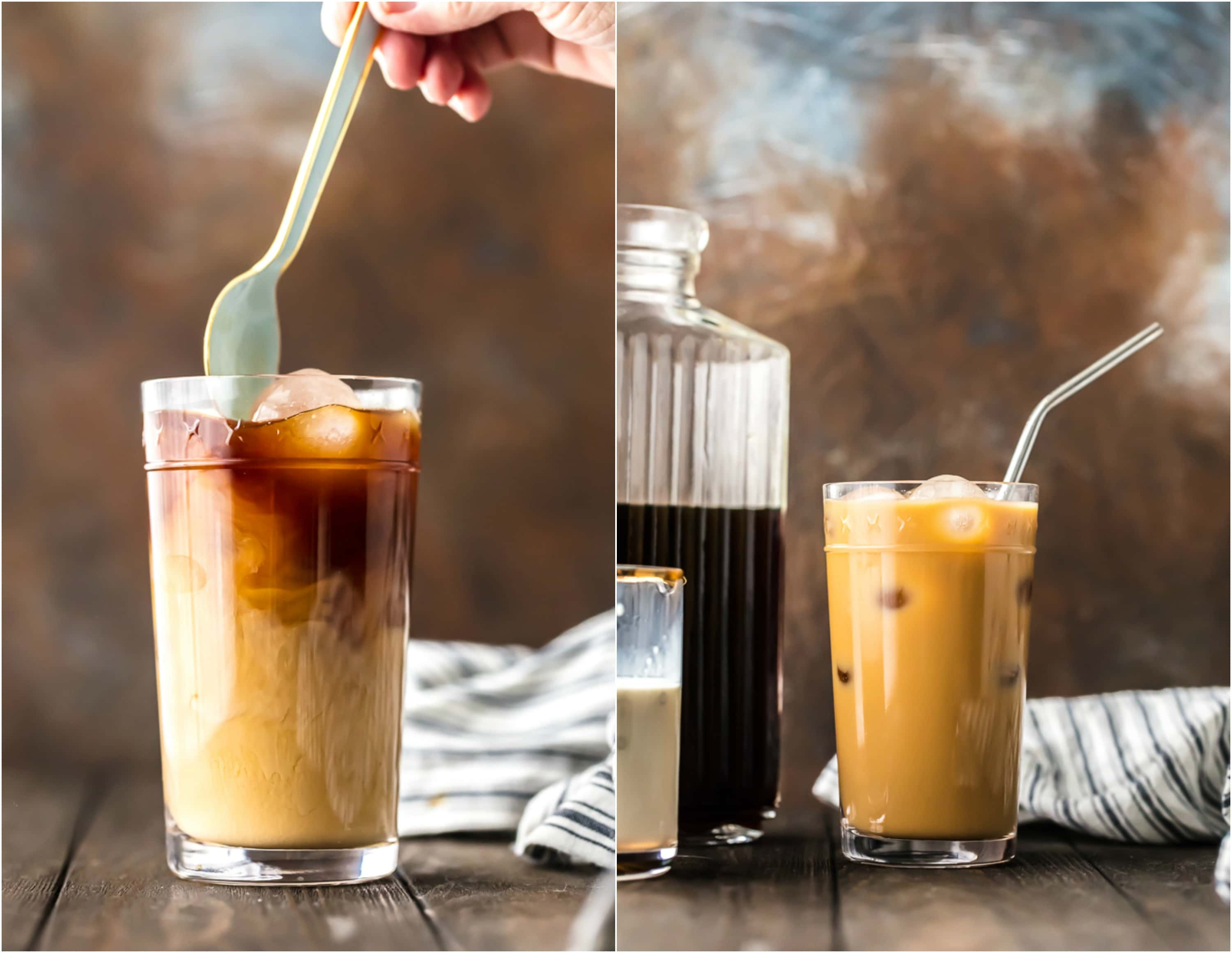 stirring iced coffee recipe