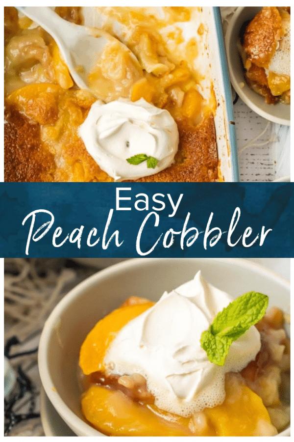 easy peach cobbler pinterest pic