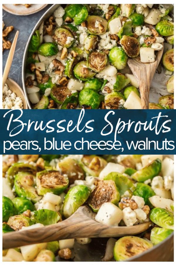 pear, bleu cheese, walnut brussel sprout pinterest photo