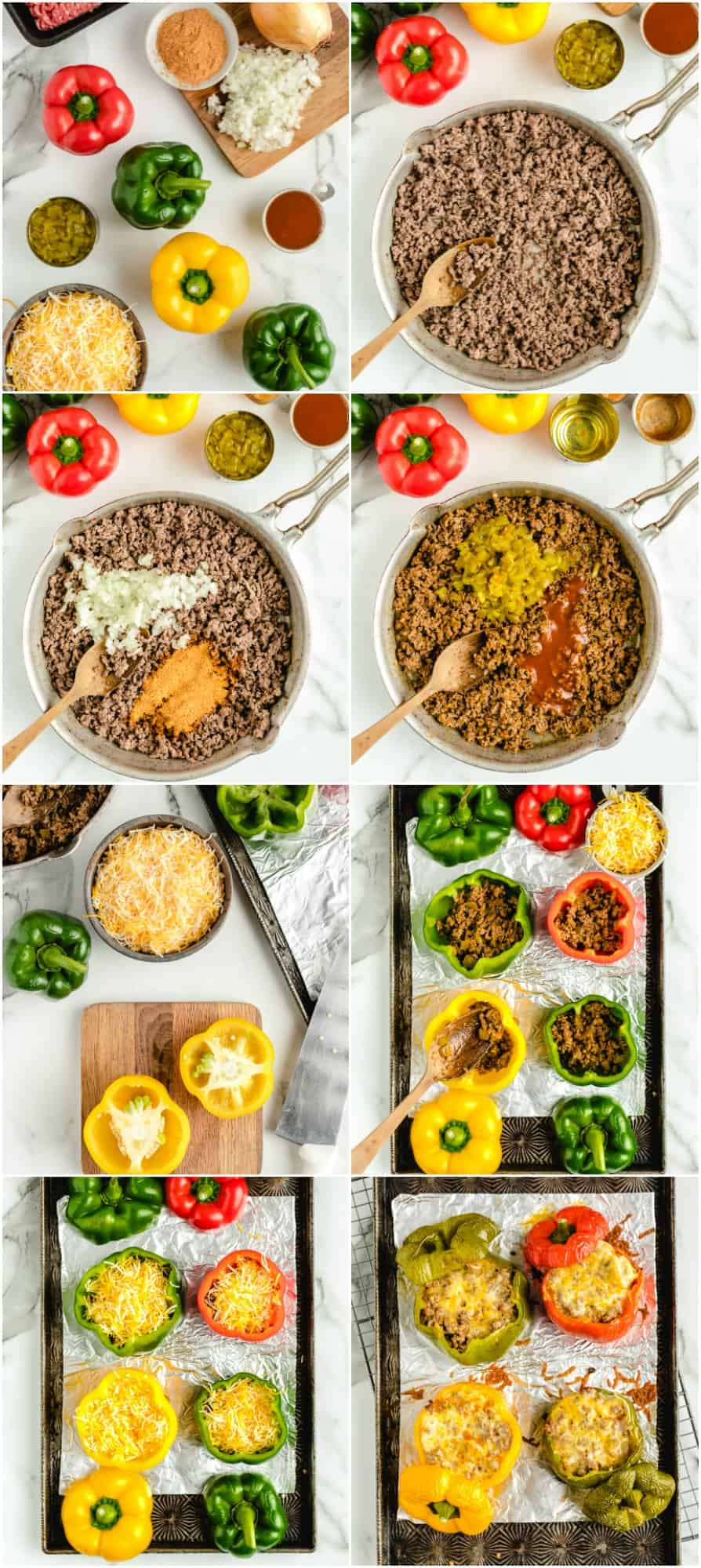 step by step photos of how to make stuffed peppers