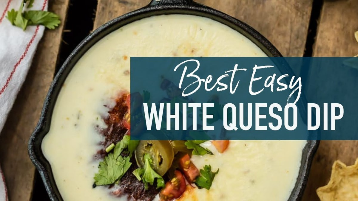 White Queso Recipe - Easy Queso Blanco [VIDEO] - The Cookie Rookie
