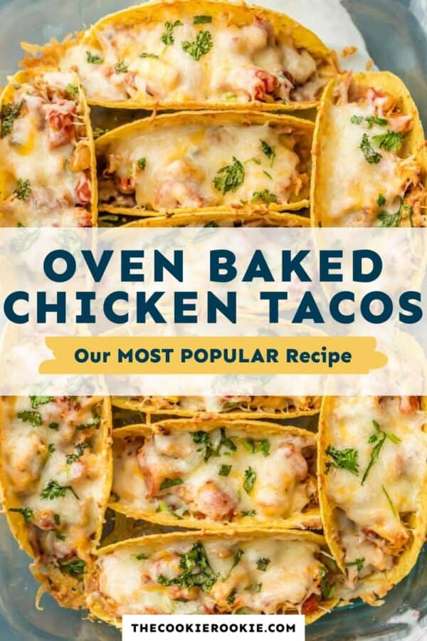 baked chicken tacos pinterest collage