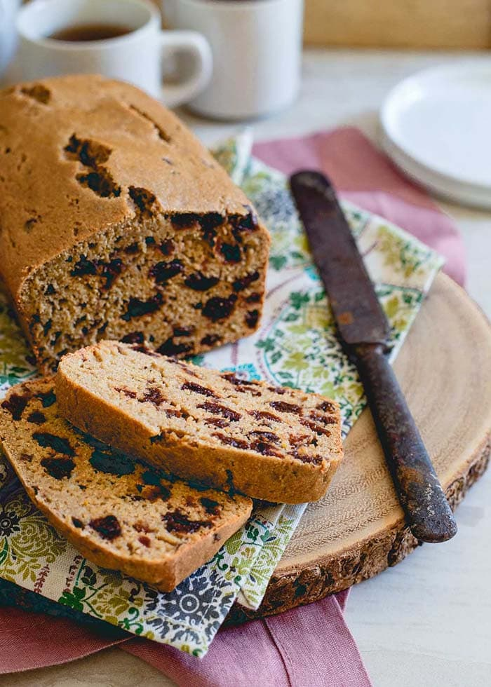 Tart Cherry Tea Bread | Running to the Kitchen
