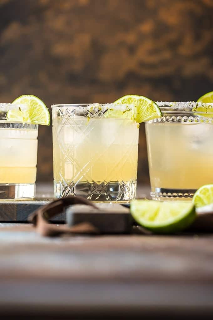 best margarita recipe for a crowd garnished with salt and limes