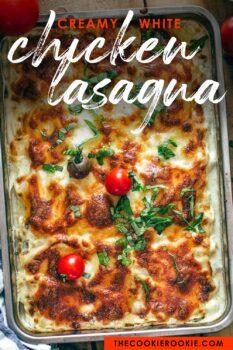 white chicken lasagna pinterest image