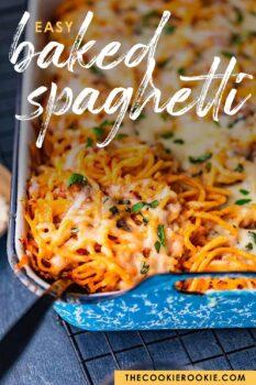 baked spaghetti pinterest image