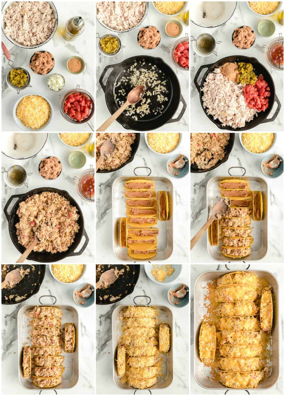 how to make chicken tacos step by step process shots