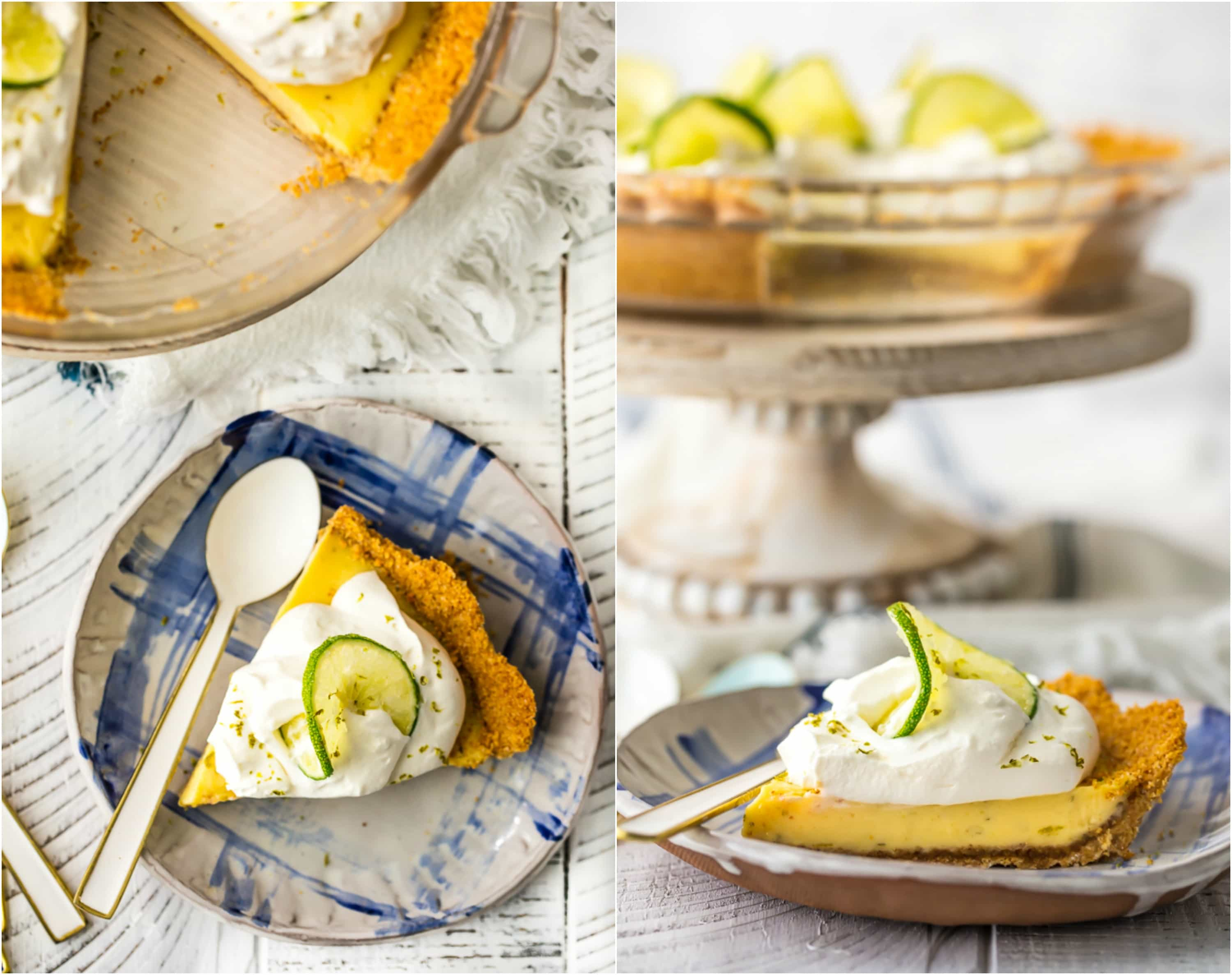 Key Lime Pie is a Summer must make. This EASY Key Lime Pie Recipe is one of my most treasured recipes; we love to eat it all Summer Long. This delicious pie recipe is part creamy, party tart, and all the way delicious. No outdoor BBQ or family celebration is complete without this perfect Key Lime Pie Recipe.