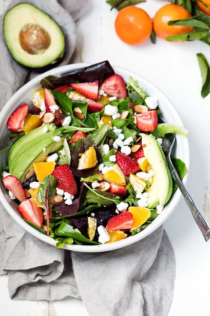Orange Strawberry Avocado Salad | Ambitious Kitchen