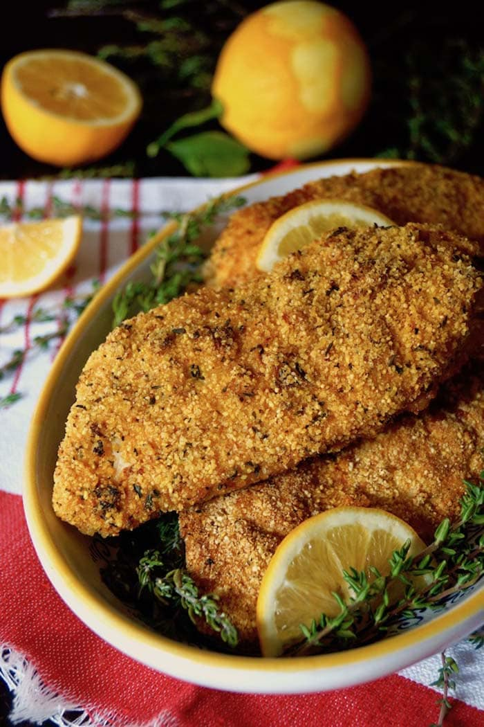 Air Fryer Gluten-Free Lemon Fried Chicken | Cooking on the Weekends