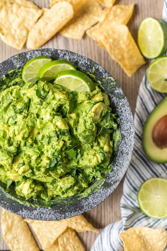 Best Guacamole Recipe Ever In A Bowl Surrounded By Tortilla Chips