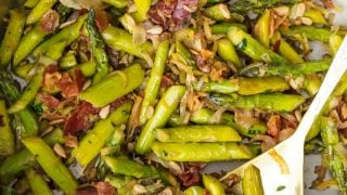 Sauteed Asparagus Recipe with Pancetta (BEST Asparagus Recipe)