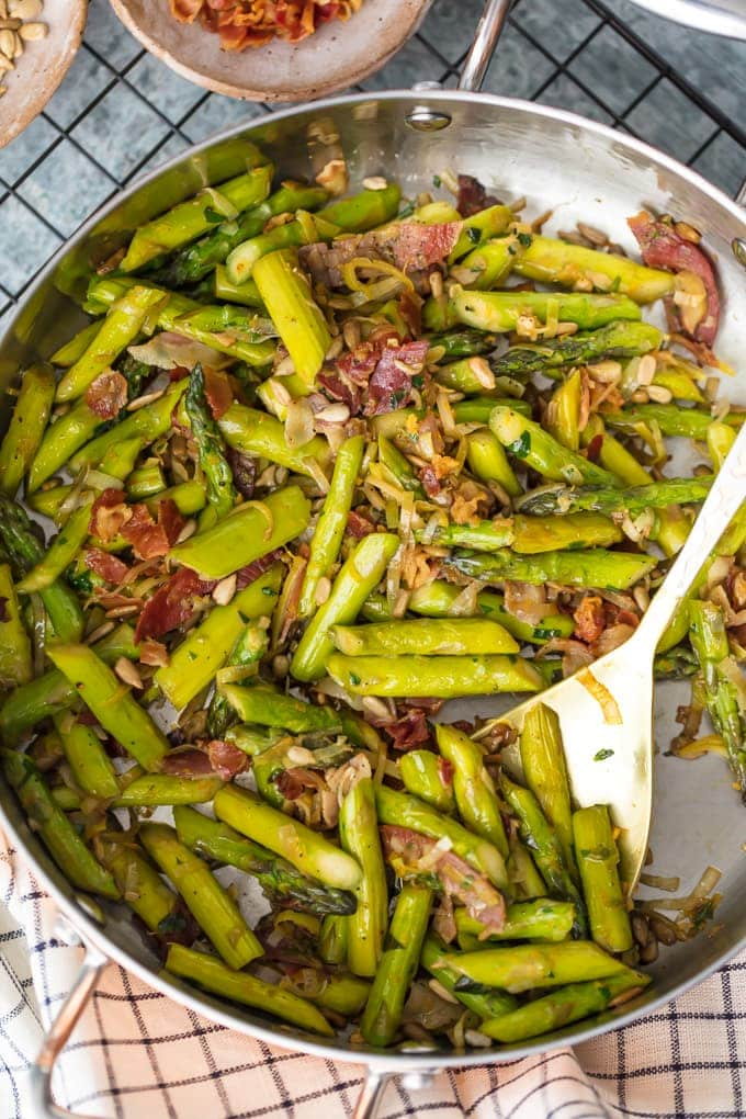 Sauteed Asparagus Recipe With Pancetta Best Asparagus Video