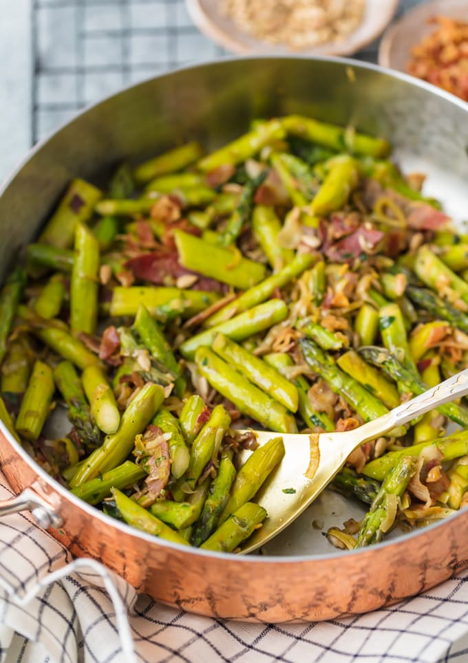 Sauteed Asparagus with Pancetta