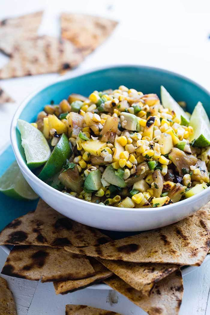 Grilled Pineapple Salsa with Mango and Corn | Food Faith Fitness