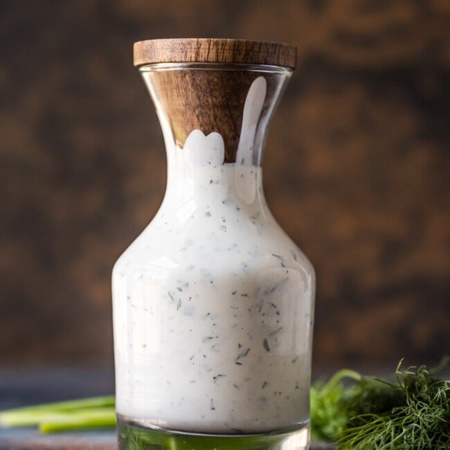 This Homemade Ranch Dressing Recipe is super creamy and full of flavor! Forget the store-bought ranch, and learn how to make ranch dressing at home instead. You'll be making this Easy Ranch Dressing Recipe for every salad, every veggie plate, and every party dip.