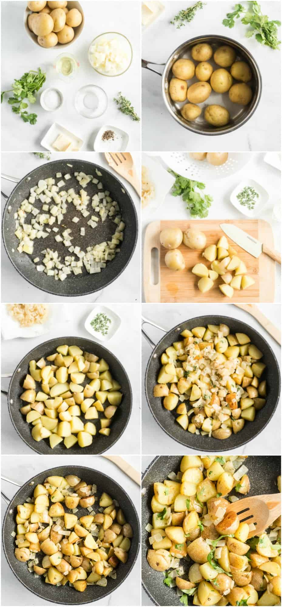 step by step photos of how to make home fries