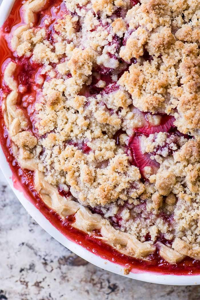 Strawberry Crumble Pie | The View From Great Island