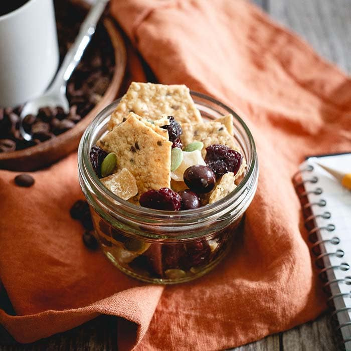 Coffee House Cracker Crunch Trail Mix | Running to the Kitchen