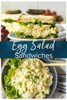 This classic Egg Salad Sandwich recipe is the perfect easy lunch recipe. Learn how to make egg salad sandwiches with the perfect mix of eggs, mayonnaise, and herbs.