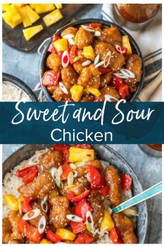 This easy Sweet and Sour Chicken recipe is crispy, tangy, and delicious! Learn how to make it at home along with a sweet and sour chicken sauce.
