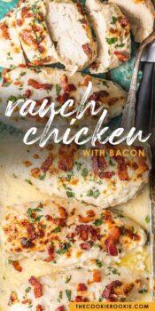 ranch baked chicken pinterest collage