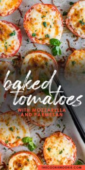 baked tomatoes pinterest collage
