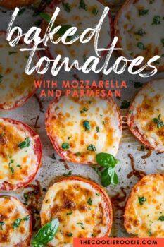 baked tomatoes pinterest image