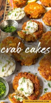 crab cakes pinterest collage