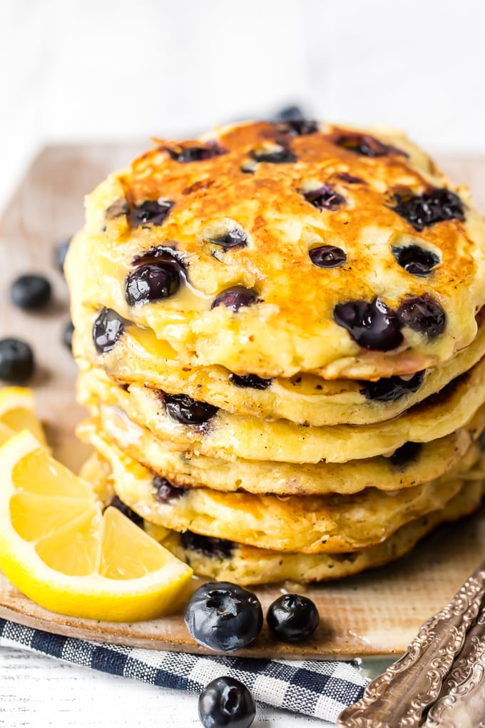 Classic blueberry pancake recipe