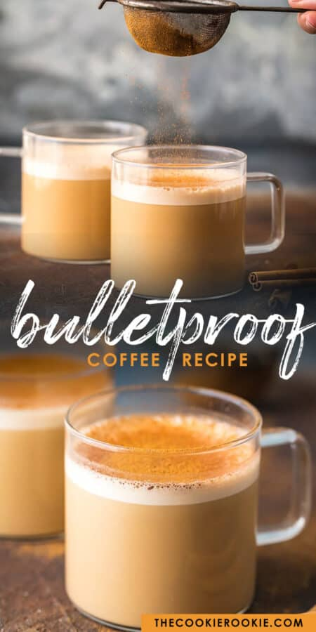 bulletproof coffee pinterest collage