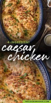 caesar chicken pinterest collage