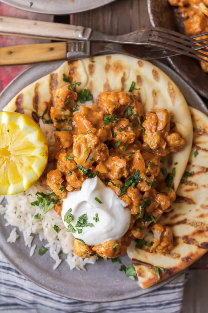 Cauliflower Tikka Masala with homemade tikka masala sauce