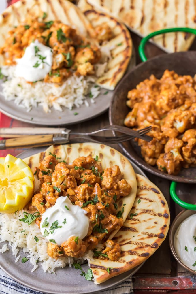 Vegetarian tikka masala made with cauliflower