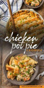 chicken pot pie pinterest collage