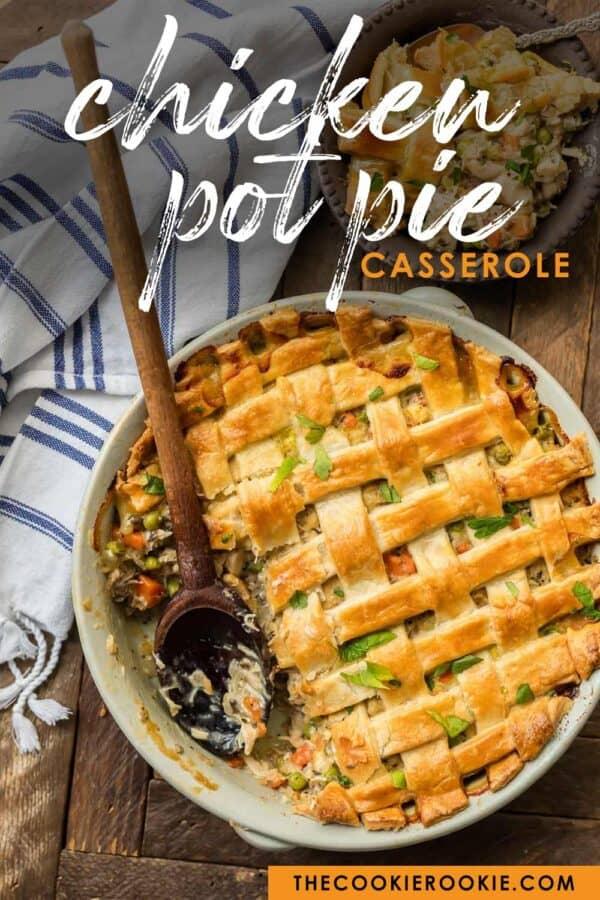 chicken pot pie pinterest image