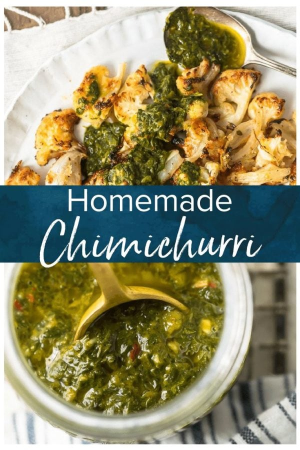 Chimichurri Sauce is an Argentinian sauce traditionally used on grilled meats. This simple yet delicious chimichurri recipe is a mix of herbs, spices, & olive oil.