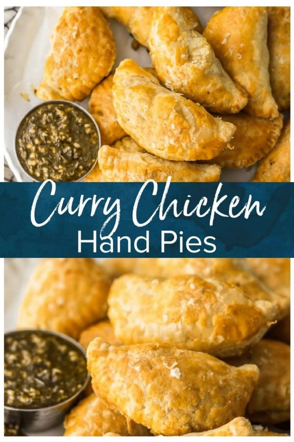 Curry Chicken Hand Pies are as easy as they are delicious! Game Day has never been more delicious than when you bring a batch of these Easy Chicken Curry Turnovers. These Curry Chicken Hand Pies are made with sliced chicken breast, frozen puff pastry dough, and a simple creamy chicken curry and vegetable filling; pleasing even the pickiest party guests. So much flavor!