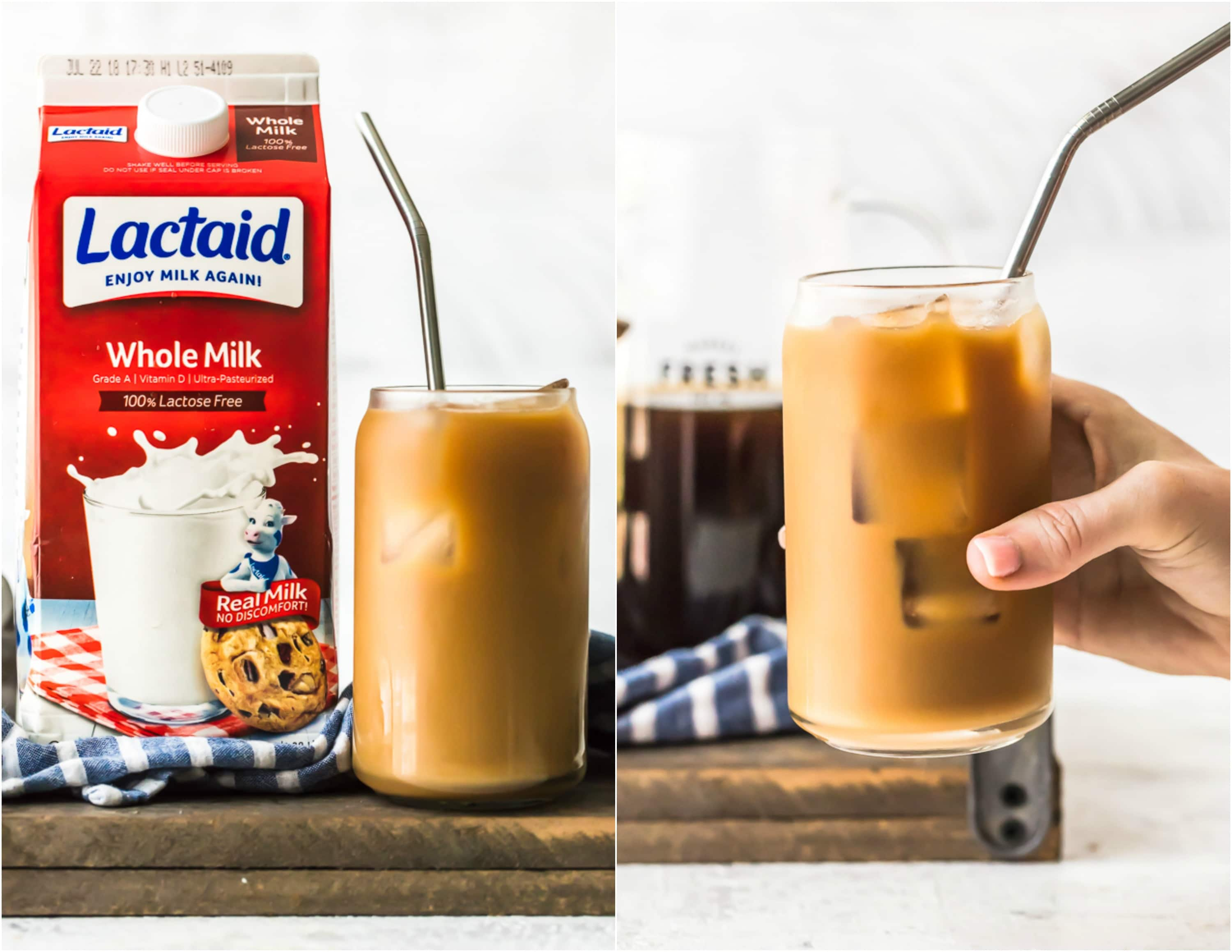 French Vanilla Iced Coffee with Homemade Vanilla Syrup is the ultimate delicious drink to kick start any day or week. We are all busy and on the go, and having the right amount of creamy caffeine made to order is the perfect solution for going all day every day. I am in love with this Homemade Vanilla Iced Coffee and make a big batch every Monday!