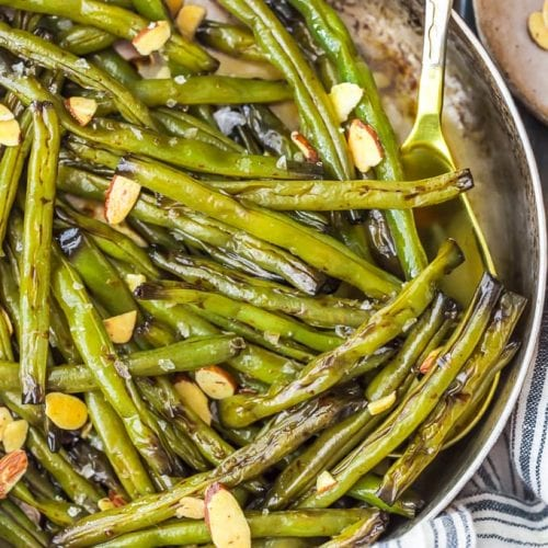 Sauteed Green Beans with Molasses are a slightly sweet yet savory side dish perfect for Thanksgiving, or any dinner throughout the year. This green bean recipe is simple!