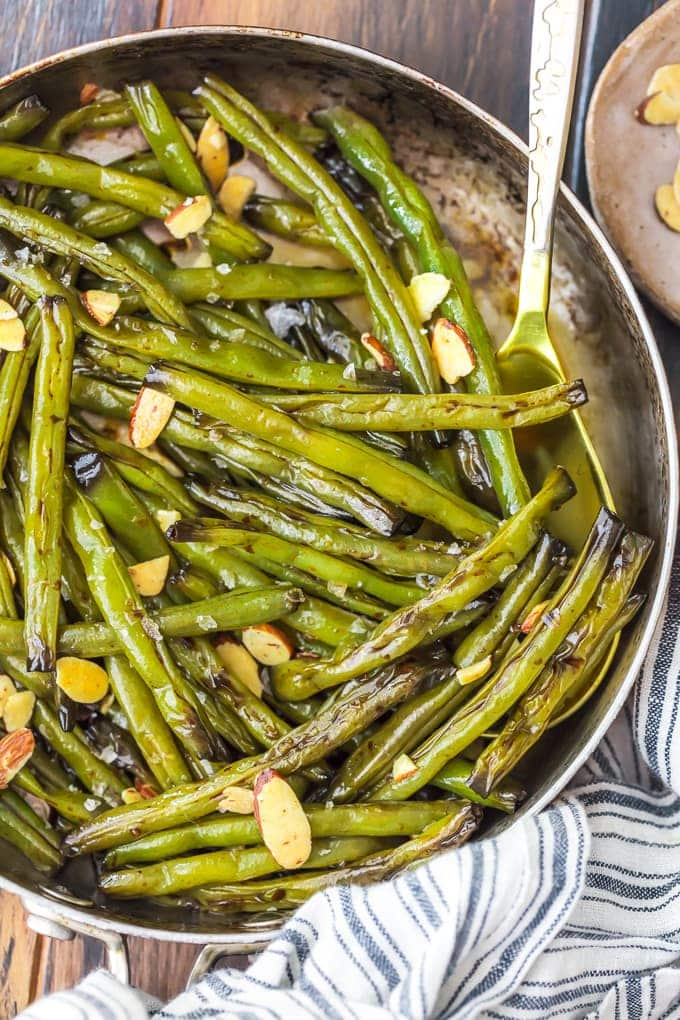 Sauteed Green Beans with molasses and honey