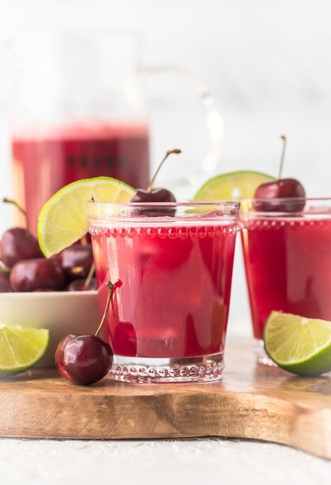 Homemade cherry limeades