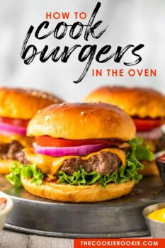 burgers on the stove pinterest image