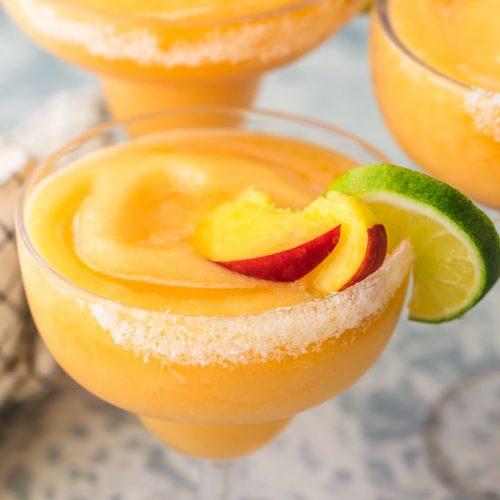 Skinny Peach Frozen Margarita Recipe