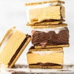 stacked smores ice cream sandwiches
