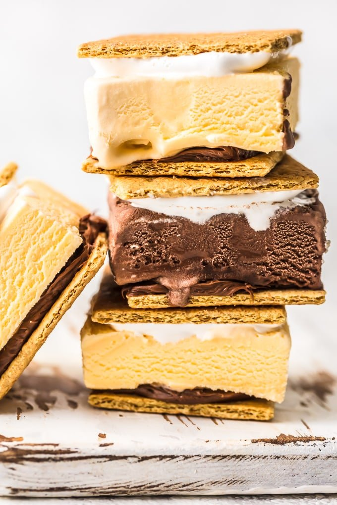 ice cream sandwiches stacked