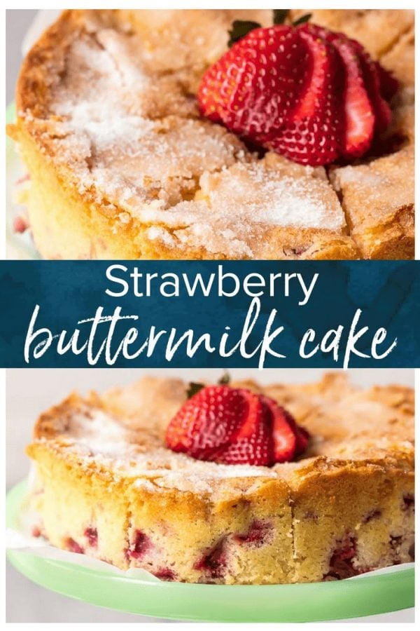 This Strawberry Buttermilk Cake is moist, soft, and so yummy! I love the light & simple flavor of this lemon strawberry cake