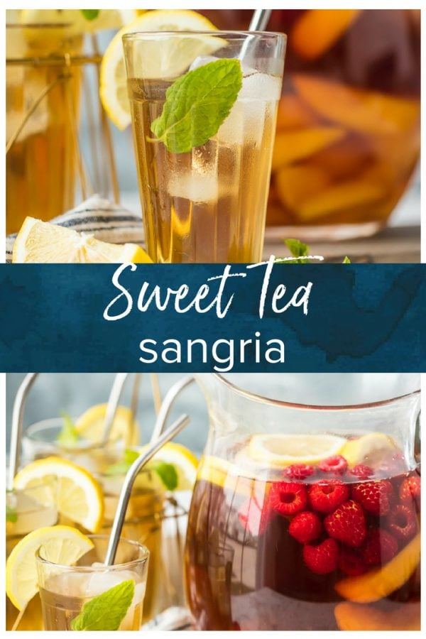 sweet tea sangria pinterest photo
